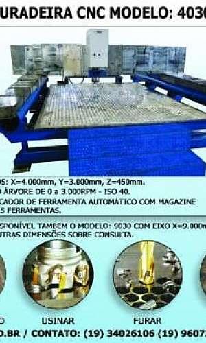 Fresadora CNC para metalúrgica